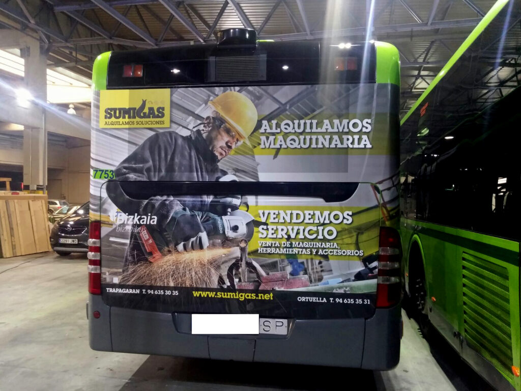 Publicidad Autobus Bizkaibus Sumigas