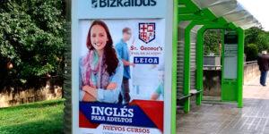 Publicidad Marquesina Bilbao StGeorge