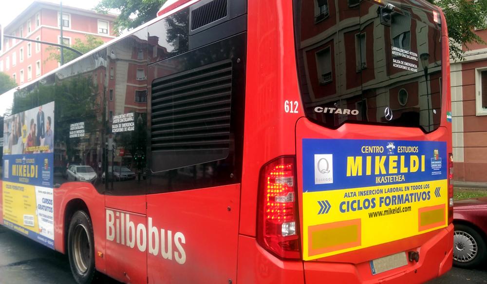 Publicidad Autobuses Bilbobus Mikeldi