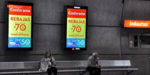 Publicidad Pantallas Digitales Metro Bilbao Conforama