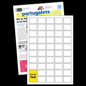 anuncio 1x2 periodico enPortugalete