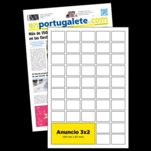 anuncio 3x2 periodico enPortugalete