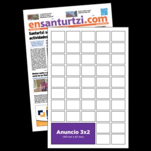 anuncio 3x2 periodico enSanturtzi