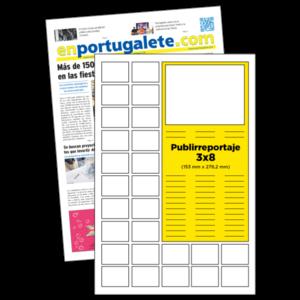 anuncio 3x8 Publirreportaje periodico enPortugalete