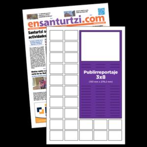 anuncio 3x8 Publirreportaje periodico enSanturtzi