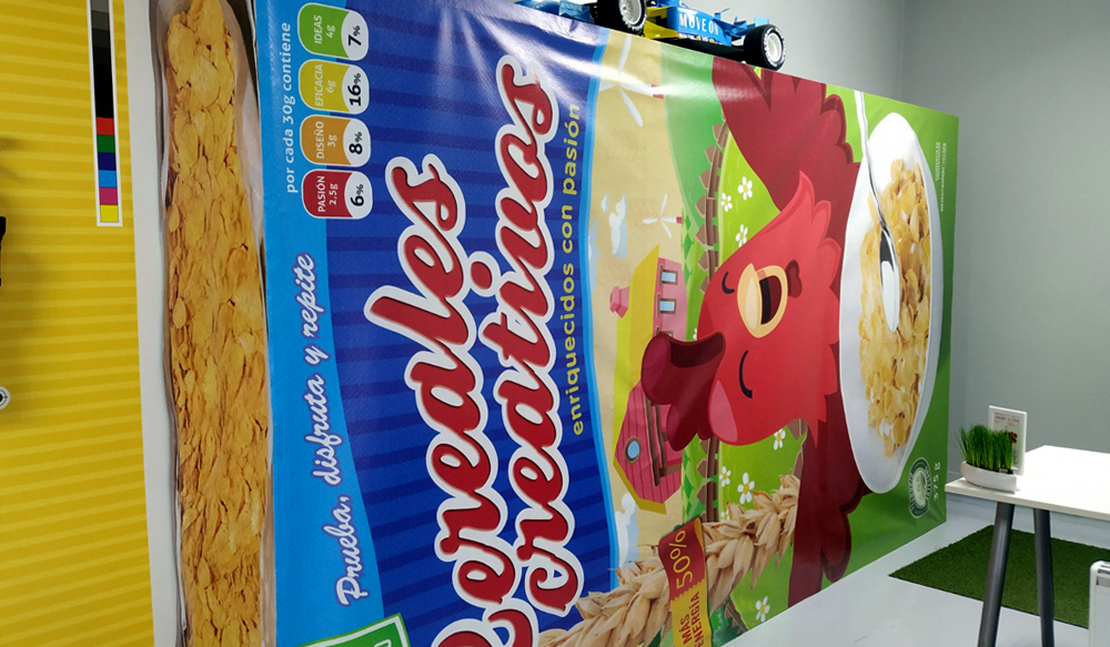 Caja Cereales Creatividad Excelencia