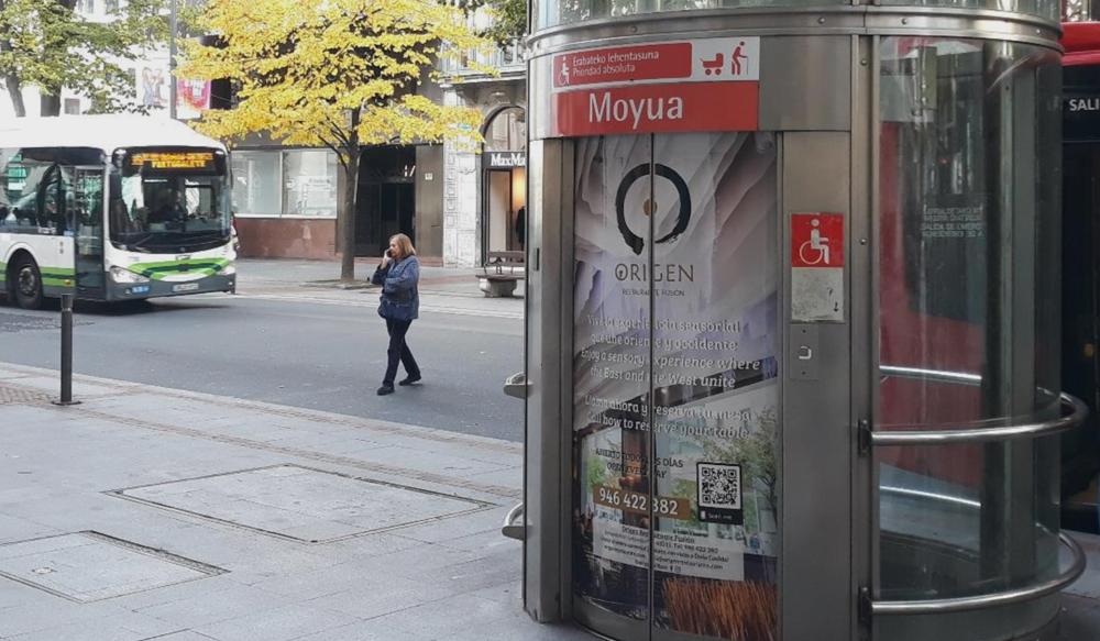 Publicidad Bilbao Metro Ascensores
