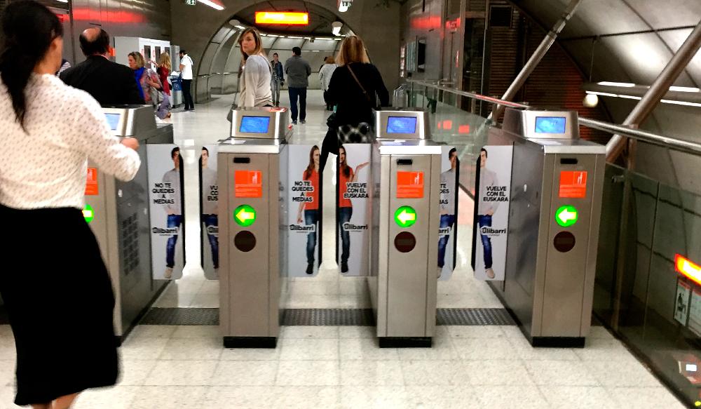 Publicidad Bilbao Metro Canceladoras