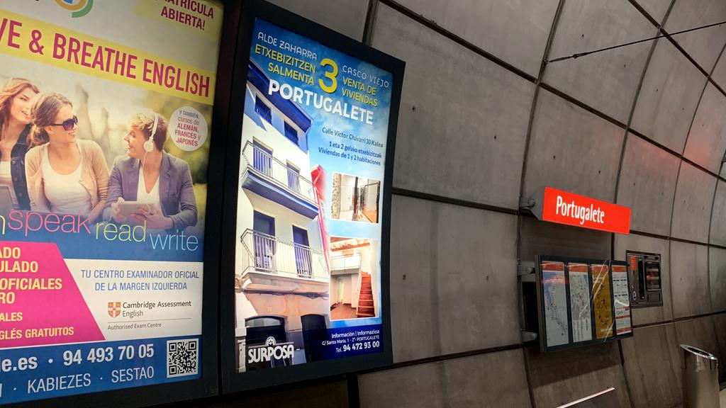 Publicidad Metro Bilbao Circuitos