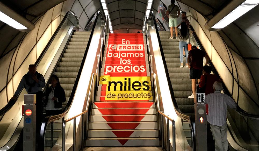 Publicidad Bilbao Metro Escaleras
