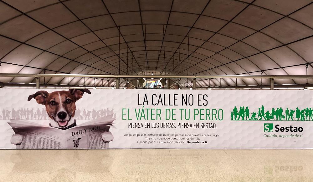 Publicidad Bilbao Metro Mezzaninas