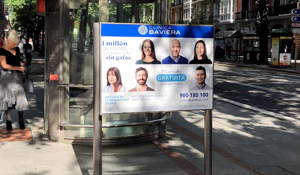 Publiciad Bilbao Metro Paneles