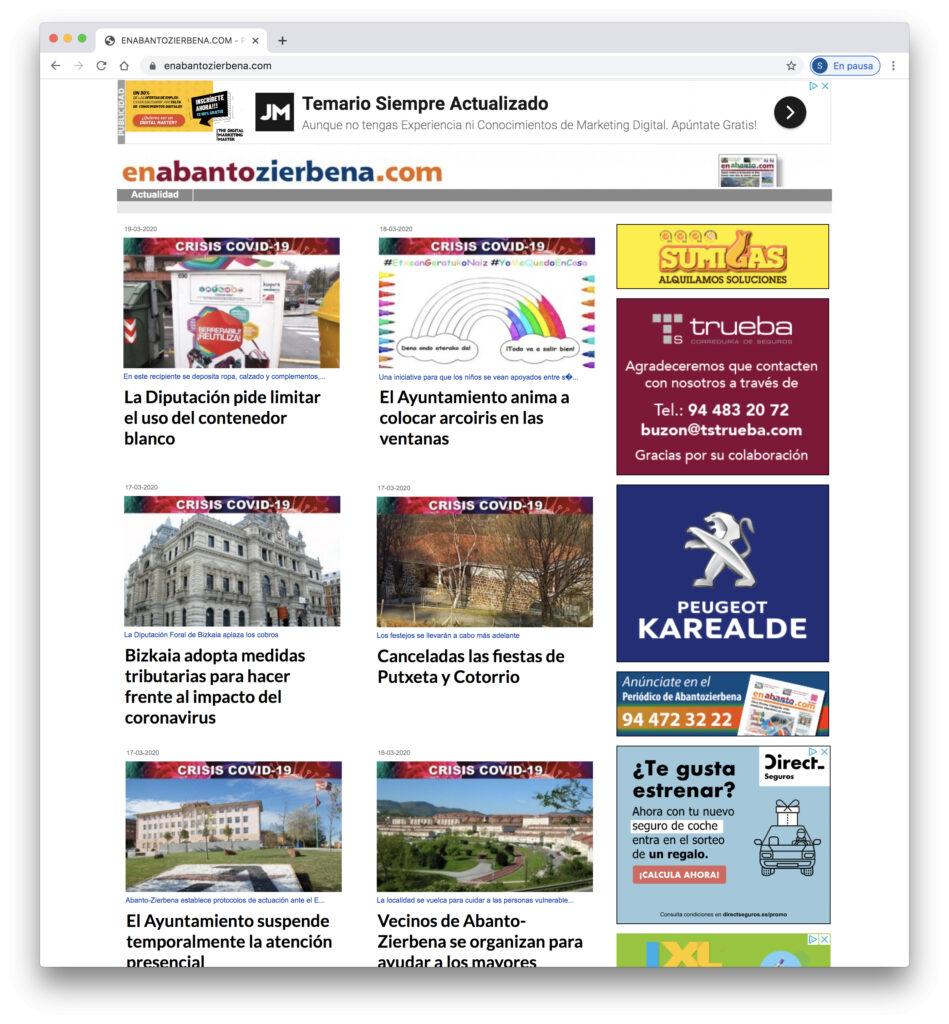 Web Periodico EnAbantoZierbena