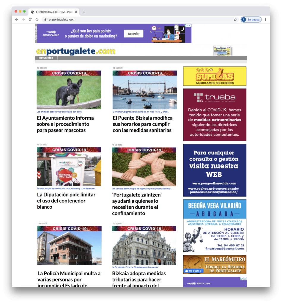 Web Periodico EnPortugalete