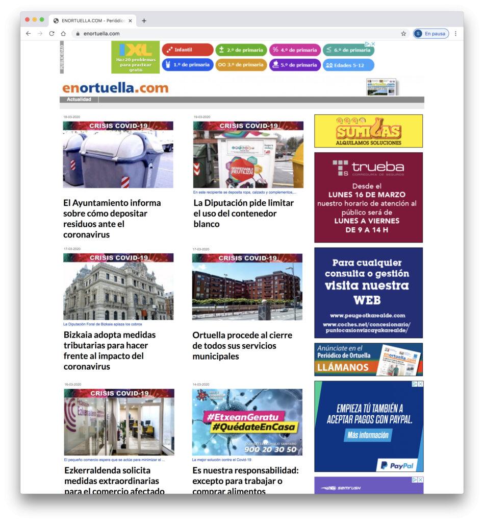 Web Periodico EnOrtuella