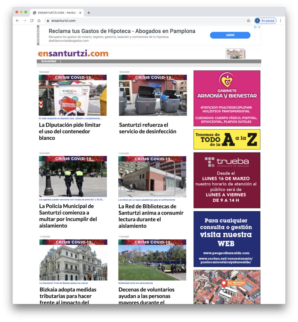 Web Periodico EnSanturtzi