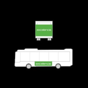Publicidad Autobus Bizkaibus - Trasera Ampliada + Lateral