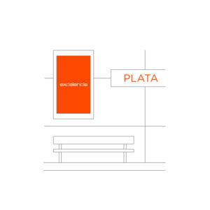 Publicidad Metro Bilbao Estaciones Plata